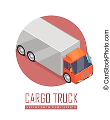 Truck Vector Icon in Isometric Projection