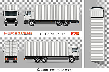 Truck vector mockup