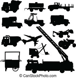 truck vector silhouettes
