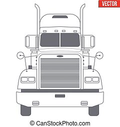 Truck vector symbol for delivery company