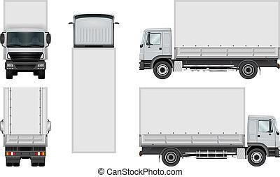 Truck vector template.