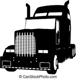 truck (vector) - truck made in vector