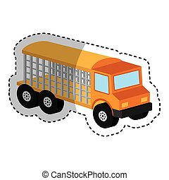 truck vehicle isometric icon vector illustration design