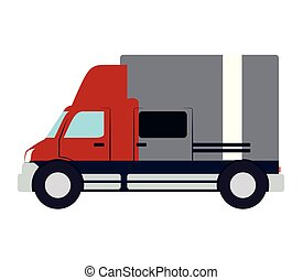 truck vehicle with box carton
