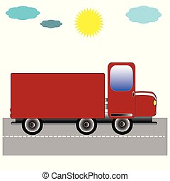 truck., vermelho