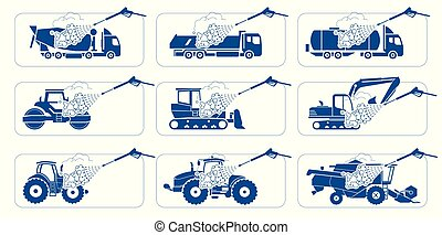 Truck Wash Systems. Deep cleaning. Illustration presenting ...