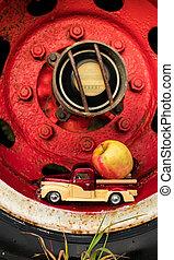Truck Wheel Apple Truck