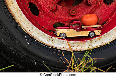Truck Wheel Tomato Truck