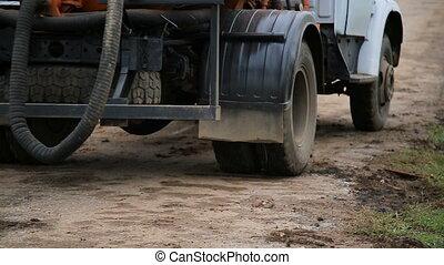 truck wheels closeup