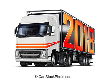 truck with 2018 transports container