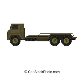 Truck with a platform. Vector illustration on a white background.