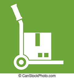 Truck with cargo icon green