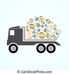 truck with color stickers for sale and discount eps10