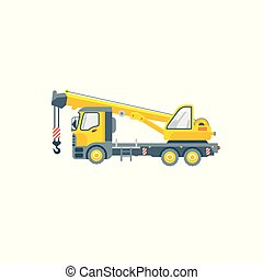 truck with crane illustration side view