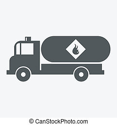 Truck with fuel Icon