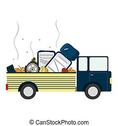 Truck with garbage