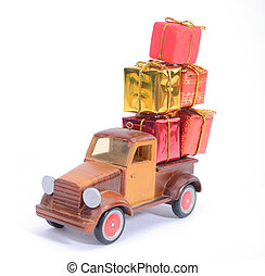 truck with gifts,