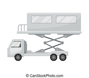 Truck with jet bridge. Vector illustration on a white ...