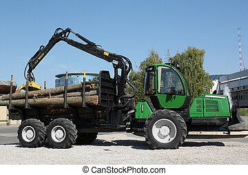 truck with log