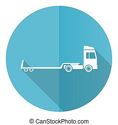 Truck with tow trailer, long vehicle conept illustration in eps 10