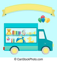 Truck with toys