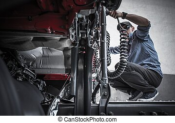 Trucker Semi Maintenance