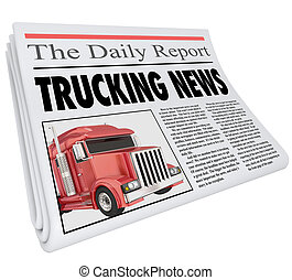 Trucking News Headline Newspaper Inform Communication Shipping Industry