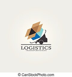 Trucking Transportation Logo, vector logo for business corporate, delivery of goods, logistic, element, illustration.