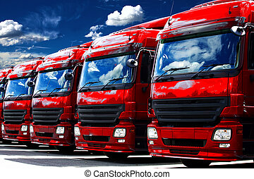 trucks at the car park