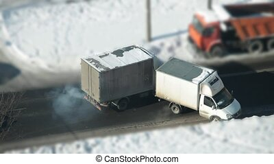 trucks collided on the road - Accident, trucks collided on a...