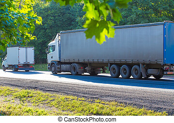 trucks go on highway