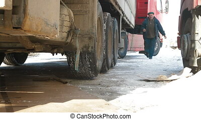 Trucks in winter