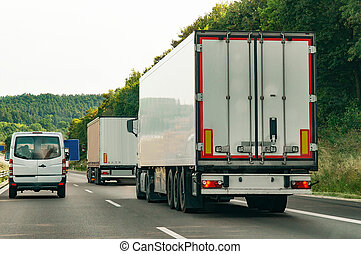 Trucks on road in Germany - Trucks on the road in Germany