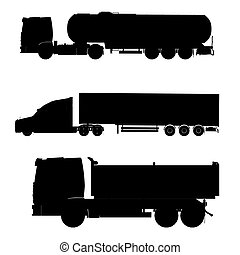 trucks outline silhouette