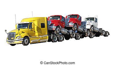 Trucks - Brand new trucks isolated on white background