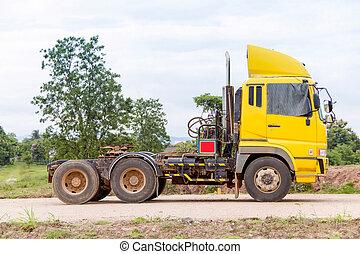trucks presentation on construction road