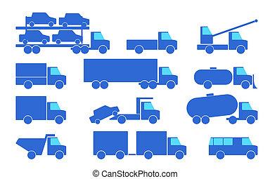 trucks., slagen