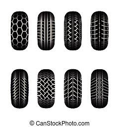 Trucks tire tracks