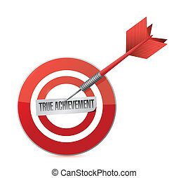 true achievement target dart illustration design