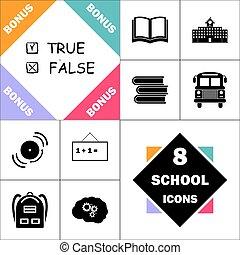True and False computer symbol