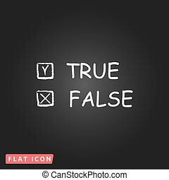 True and False icon