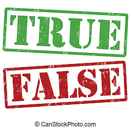 True and False stamps