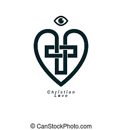 True Christian Love and Belief in God, vector creative ...