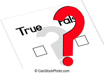 True-False-Question - True and false question with a ...