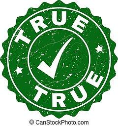 True Grunge Stamp with Tick