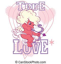 true love cupid aiming an arrow
