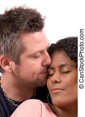 True love - Pretty diverse couple in love