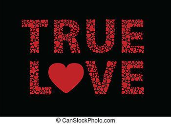 True love written in hearts