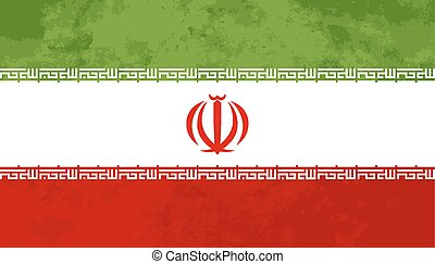 True proportions Iran flag with texture