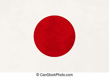 True proportions Japan flag with texture - True proportions ...